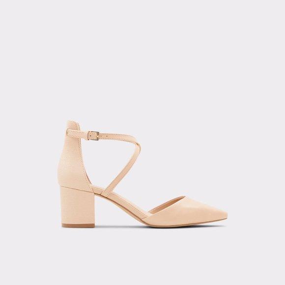 Aldo Adralen classic ankle strap block heels 6